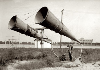 Sound trumpets for detecting aircraft