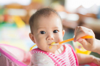 A baby's gag reflex protects it from choking on solid food.