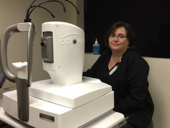 Loraine Clark, an ophthalmic imaging technician