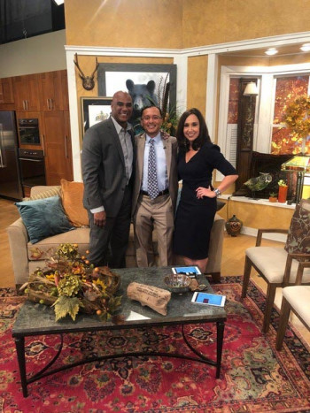 Dr. Kansupada with the hosts of Charlotte Today.