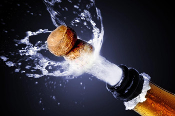A popping champagne cork