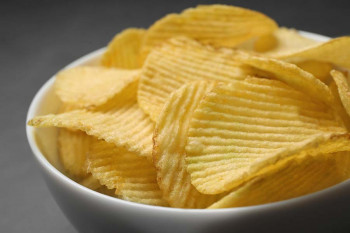 Salty, crisp potato chips