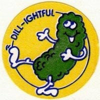 A scratch n sniff sticker