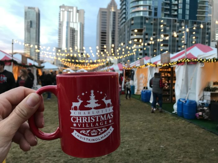 Charlotte Christmas Village, photo courtesy of Charlotte Agenda